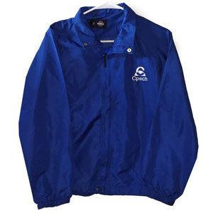 CPECH Chilean Blue Nylon Retro Jacket 90s